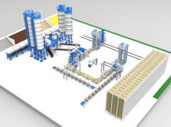 Dây truyền sản xuất gạch bê tông